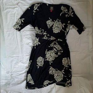 Vince Camuto Blue Floral Tie Dress!